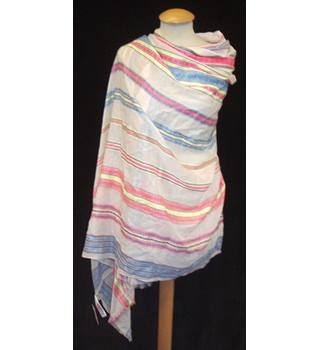 BNWT Monsoon for Accessorize  Size One size  Cream / ivory wrap with multi coloured ethnic weave stripes