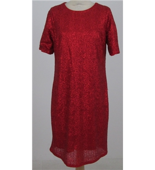 NWOT M&S Collection size: 14 red sequined knee length dress