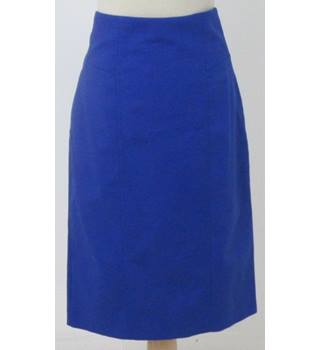 NWOT M&S size 14 blue calf length skirt