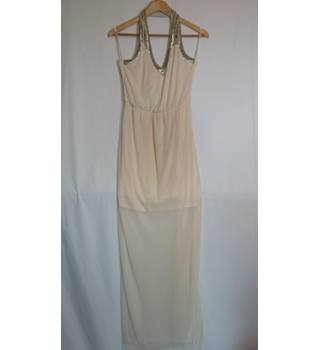 Miss selfrige evening dress size 12 cream and silver Miss Selfridge - Size: 12 - Cream / ivory - Long dress