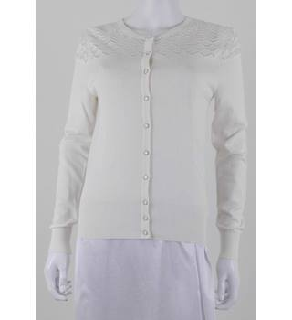 M&S Collection Size 8 Vanilla White Lacy Cardigan