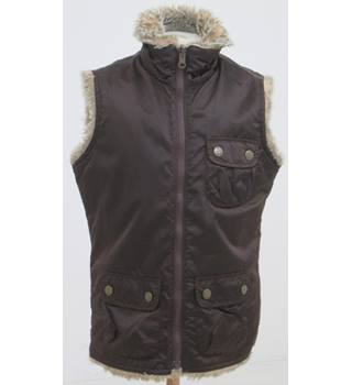 Gap - Age: 10 - 11 Years - Brown Nylon and Fur Gilet