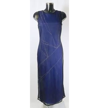 BNWT Oasis size 12 navy with sparkly silver pattern dress