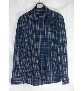 Pierre Cardin Check Shirt. Blue. Large. £9.99 Pierre Cardin - Size: L - Blue - Long sleeved