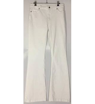Hobbs - Size 12 - white - Jeans