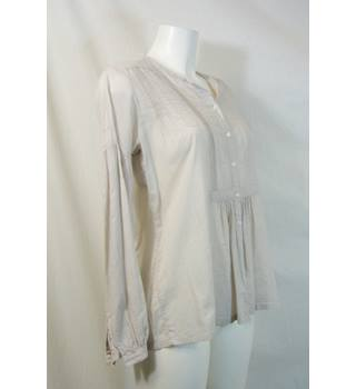 The White Company Size S Ivory Smock Top