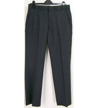 "M&S Marks & Spencer - Size: 32"" Waist  - Charcoal - Pure New Wool Trousers"