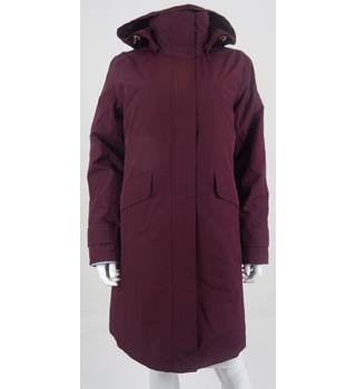 LandsEnd Size M Plum Double Layered Coat