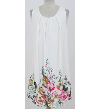 Joules - Size 14 -Cream with floral pattern dress
