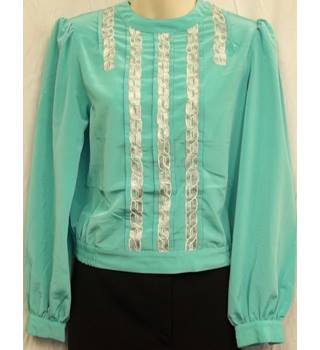 Mint Green Vintage Top Size 10 Jersey Masters - Size: 10 - Green
