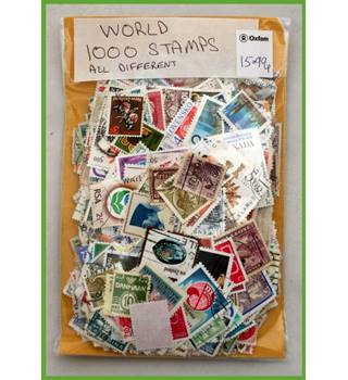 1,000  World stamps - all different
