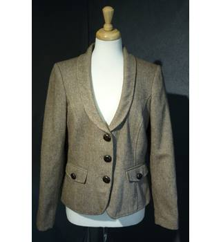 Comma - Size: 16 - Brown - Wool Suit Jacket