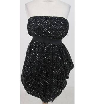 BNWT South size 10 black sequined strapless party dress