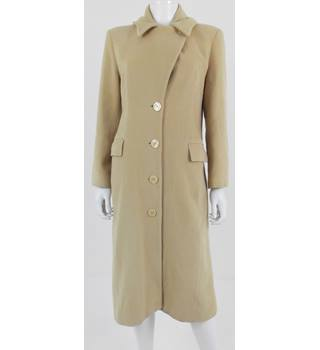 Paul Costelloe Size 10 Latte Beige Long Coat