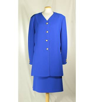 Viyella - Size: 18 - Blue - Skirt suit