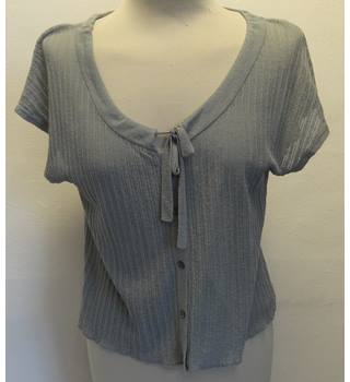 Grey Tie-up Top Pennyblack - Size: L