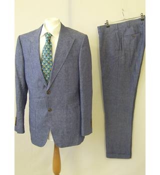 50% OFF SALE Tollegno 1900 Single Breasted Suit Tollegno 1900 - Blue - Single breasted suit 42 Regular