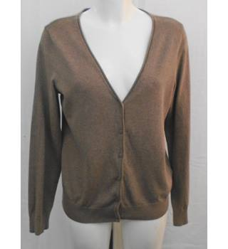 H&M brown V neck cardigan Size M