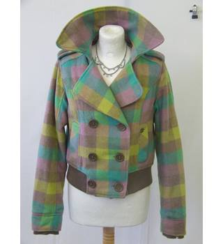 50% OFF SALE Billabong Multi Coloured Double Breasted Jacket Billabong Indie Boho Chic - Size: S - Multi-coloured - Jacket
