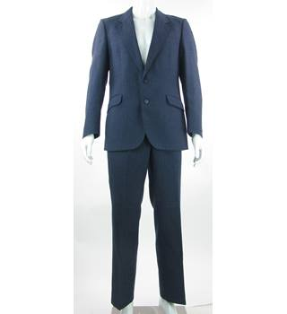 Varteks International - Size: 38S/34/29 - Prussian Blue - Wool Mix - Single breasted suit