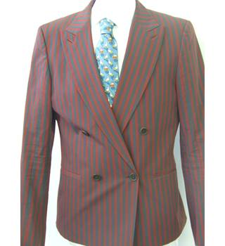 50% OFF SALE Diesel Mens Striking Jacket In A Wine & Grey Stripe Diesel - Size: M - Multi-coloured - Jacket