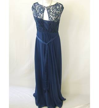 50% OFF SALE Coast Full Length Dark Blue Dress Coast - Size: 10 - Blue - Full length