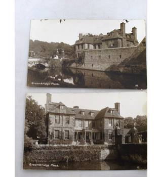 Two Old Postcards of Groombridge, Kent, Real photographic