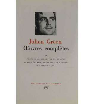 Julien Green Complete Works Volume 4. French Language.