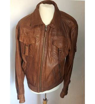Arma leather jacket Arma - Size: S - Brown - Leather jacket