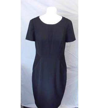 M&S Marks & Spencer - Size: 12 - Black knee length smart dress
