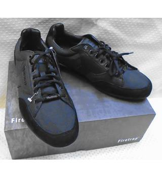 All Black Firetrap Leather Leather Trainers Firetrap - Size: 8.5 - Black