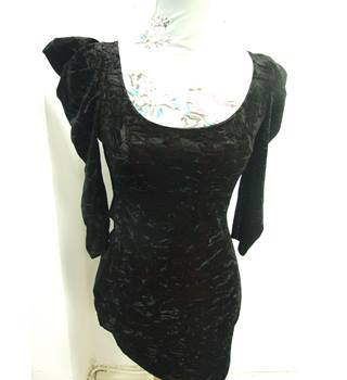 Backless Crushed Velvet Mini-Dress by Rare (Size 8/10) Rare - Size: S - Black - Mini dress