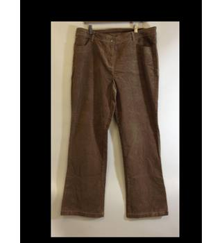 BNWT Cotton Traders size 18 Beige Stretch Corduroy Trousers Cotton Traders - Size: One size: plus - Beige - Trousers
