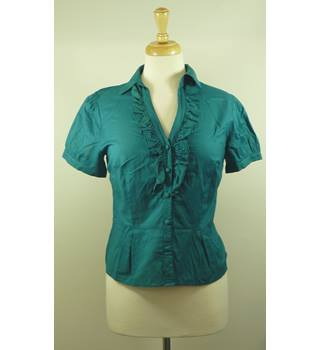 Laura Ashley Emerald Green Blouse Size 10 Laura Ashley - Size: 10 - Green - Blouse