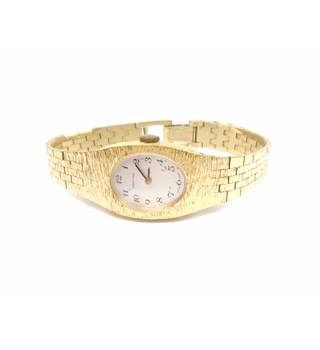 Certina gold tone oval face mechanical wind up watch