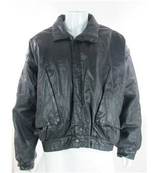Vintage Unbranded Size: XL Black Leather jacket / coat