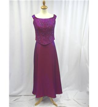 Dynasty Size: 12 Purple 3 piece Evening Dress Set