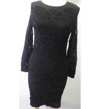 BNWT River Island Medium/Large black pencil dress