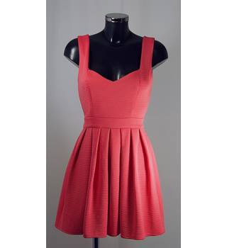Dress Up by Top Shop Dress - Coral - Size 12 (more like a Size 8) Topshop - Size: S - Pink