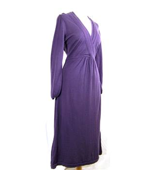 Boden size 12 L Plum Viscose Dress