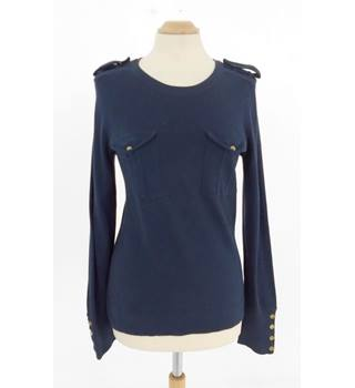 Whistles Navy Size 10 Cotton Jumper