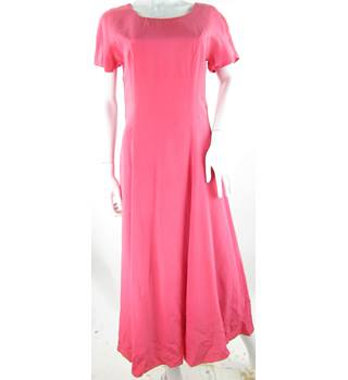 VINTAGE Laura Ashley - Size: 8 - Pink - Full Length Silk Dress