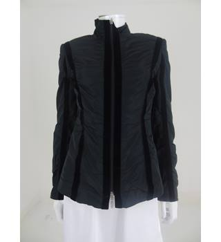 Betty Barclay Collection Black Velour Striped Fitted Jacket Size 10