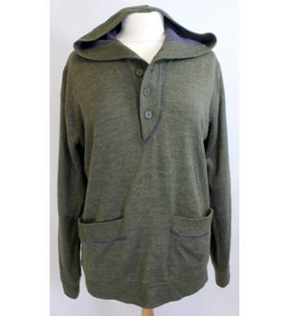 Topman - Size: M - Green - Half buttoned - Hoodie