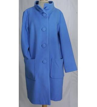 Great Plains - Size 10 - Blue - Wool Cashmere Coat