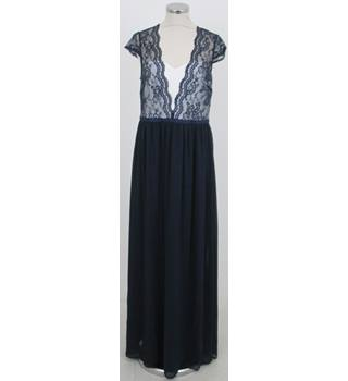 ASOS Size:12 navy-blue lace  evening dress