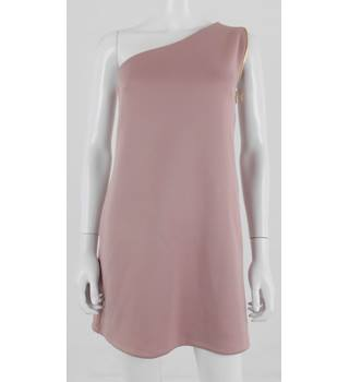 Asos Size 8 Blush Pink Scuba Cold Shoulder Shift Dress