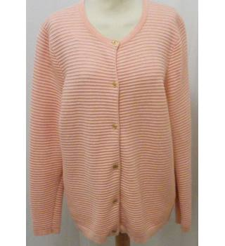 Lands End - Size: M petite - Pink Cardigan