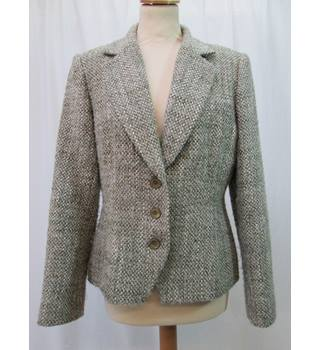 Country Casuals - Size: 12 - Green/ivory wool mix - Jacket