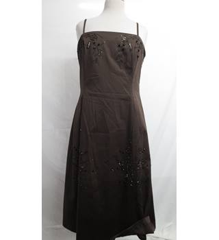 Coast Beaded Brown Dress Size 16 Coast - Size: 16 - Brown - Evening dress